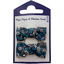 Small bows hair clips paquerette marine - PPMC