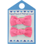 Small bows hair clips rose pailleté - PPMC