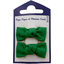 Small bows hair clips bright green - PPMC