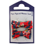 Small ribbons hair clips vermilion foliage - PPMC