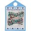 Barrette clic-clac mini ruban fleur mentholé - PPMC