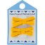 Small ribbons hair clips yellow ochre - PPMC