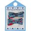 Barrette clic-clac mini ruban  nuit fleurie - PPMC