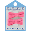 Small ribbons hair clips rose pailleté - PPMC