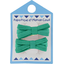 Small ribbons hair clips green laurel - PPMC