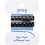 Petite barrette croco etoile or marine cr018 - PPMC