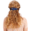 Barrette noeud arabesque bleu navy
