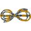 Barrette noeud arabesque etoile anisée - PPMC