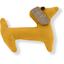 Pasador de pelo en forma de perro amarillo ocre - PPMC
