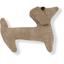 Pasador de pelo en forma de perro lino de cobre - PPMC
