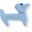 Basset hound hair clip oxford blue - PPMC