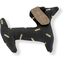 Basset hound hair clip golden straw - PPMC
