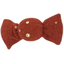 Petite barrette mini bonbon gaze terracotta or - PPMC