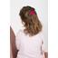 Shell hair-clips fuschia