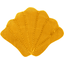 Shell hair-clips yellow ochre - PPMC