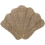 Shell hair-clips copper linen - PPMC