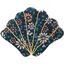 Shell hair-clips paquerette marine - PPMC