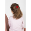 Barrette coquillage rouge