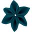 Star flower 4 hairslide bleu vert - PPMC