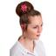 Star flower 4 hairslide cherry cornflower