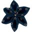 Barrette fleur étoile 4 bulle bronze marine - PPMC