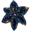 Star flower 4 hairslide glittering heart - PPMC