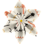 Star flower 4 hairslide   copa-cabana - PPMC