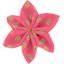 Barrette fleur étoile 4 feuillage or rose - PPMC