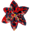 Star flower 4 hairslide vermilion foliage