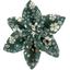 Barrette fleur étoile 4 fleuri kaki - PPMC