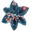 Barrette fleur étoile 4 fleuri nude ardoise - PPMC