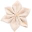 Barrette fleur étoile 4  lin pailleté - PPMC