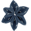 Star flower 4 hairslide silver straw jeans - PPMC