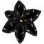 Star flower 4 hairslide golden straw - PPMC