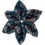 Barrette fleur étoile 4 paquerette marine - PPMC
