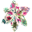 Star flower 4 hairslide spring - PPMC