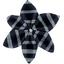 Star flower 4 hairslide striped silver dark blue - PPMC