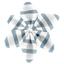 Barrette fleur étoile 4 rayé bleu blanc - PPMC