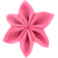Star flower 4 hairslide rose pailleté - PPMC
