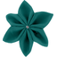 Star flower 4 hairslide emerald green - PPMC
