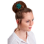 Star flower 4 hairslide emerald green