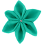 Star flower 4 hairslide green laurel - PPMC