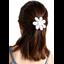 Fabrics flower hair clip white sequined