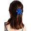 Barrette fleur marguerite bleu navy