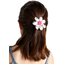 Fabrics flower hair clip sea side