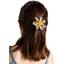 Fabrics flower hair clip cocoa pods