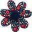 Barrette fleur marguerite camelias rubis - PPMC