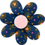 Fabrics flower hair clip glittering heart - PPMC