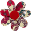 Fabrics flower hair clip poppy - PPMC