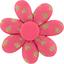 Barrette fleur marguerite feuillage or rose - PPMC